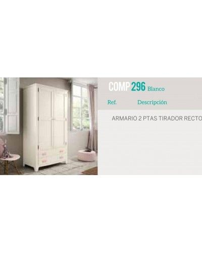 Armario 2 puertas abatibles colonial rustico 79-OC296