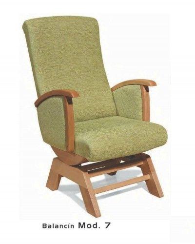 Balancin tapizado y madera moderno 46-07