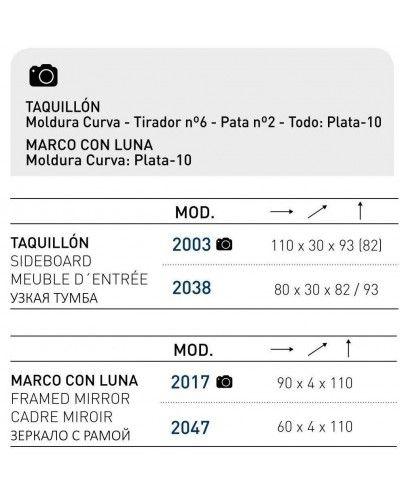 Recibidor moderno lacado 194-2003-Moka