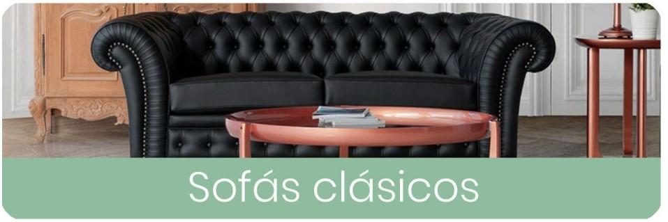 Sofás clásicos de 2 y 3 plazas clásicos para el salón | Mobles Sedaví