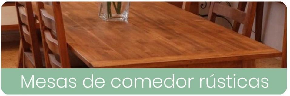Mesas de Comedor Rústicas para el Salón | Mobles Sedaví
